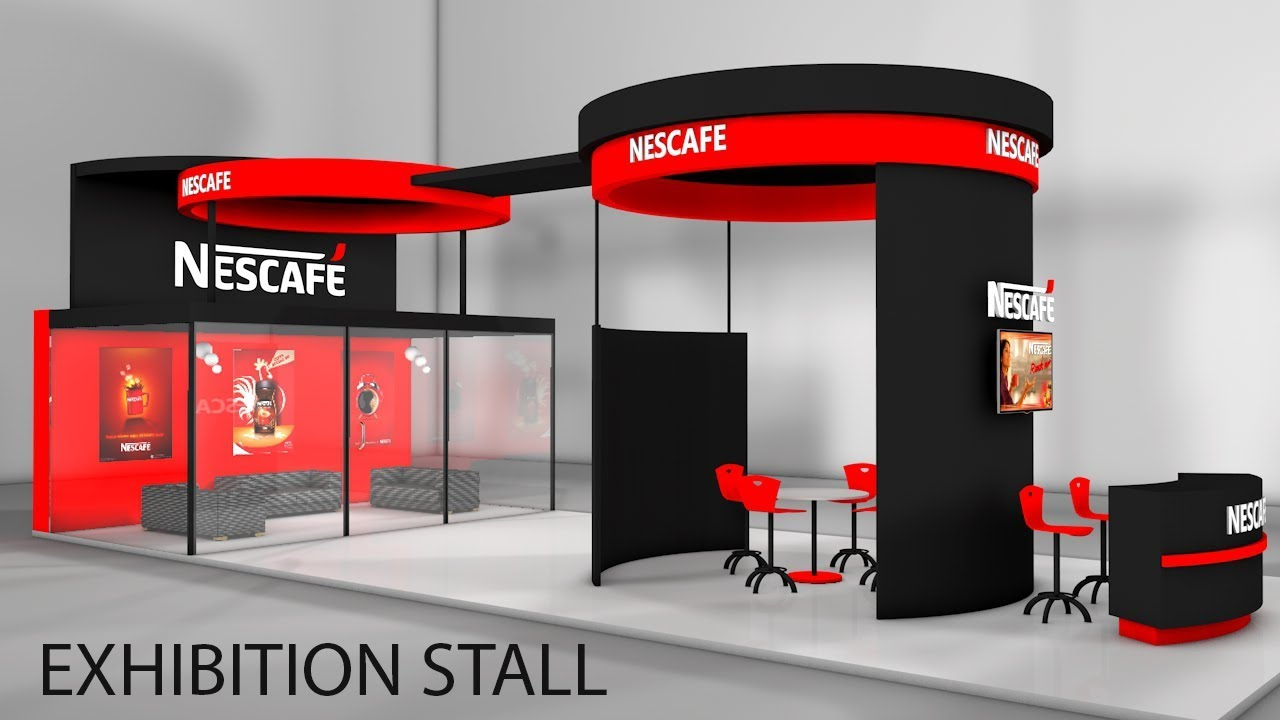 Exhibition Stall Layout : Cinema 4d modeling tutorial exhibition stall modeling in c4d youtube