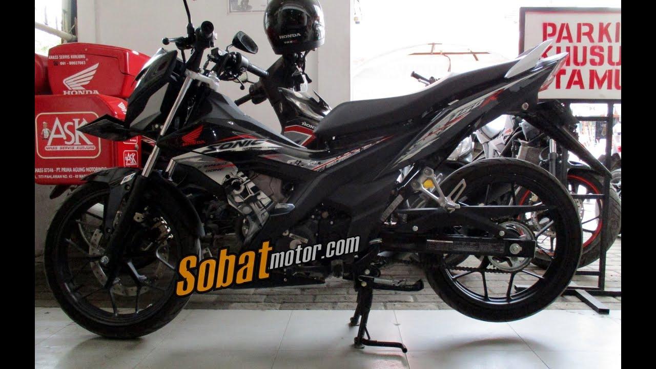 new honda sonic 150r (hitam/spartan black) - sobatmotor - youtube