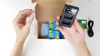 POWEREXTRA Olympus BLS-5 2-Pack Charger Kit For Baterai OM-D E-M10 PEN E-PL2 E-PL5 E-PL6 E-PL7