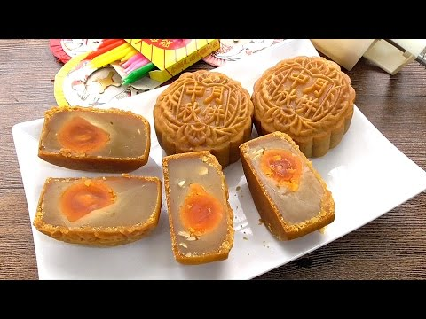 How to Make Traditional Mooncake Step by Step | Mykitchen101en