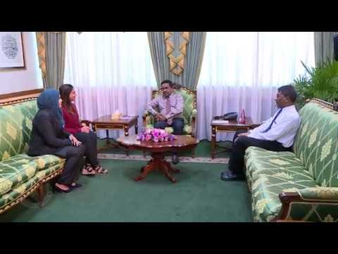 President meets with the First PhD graduates from MNU