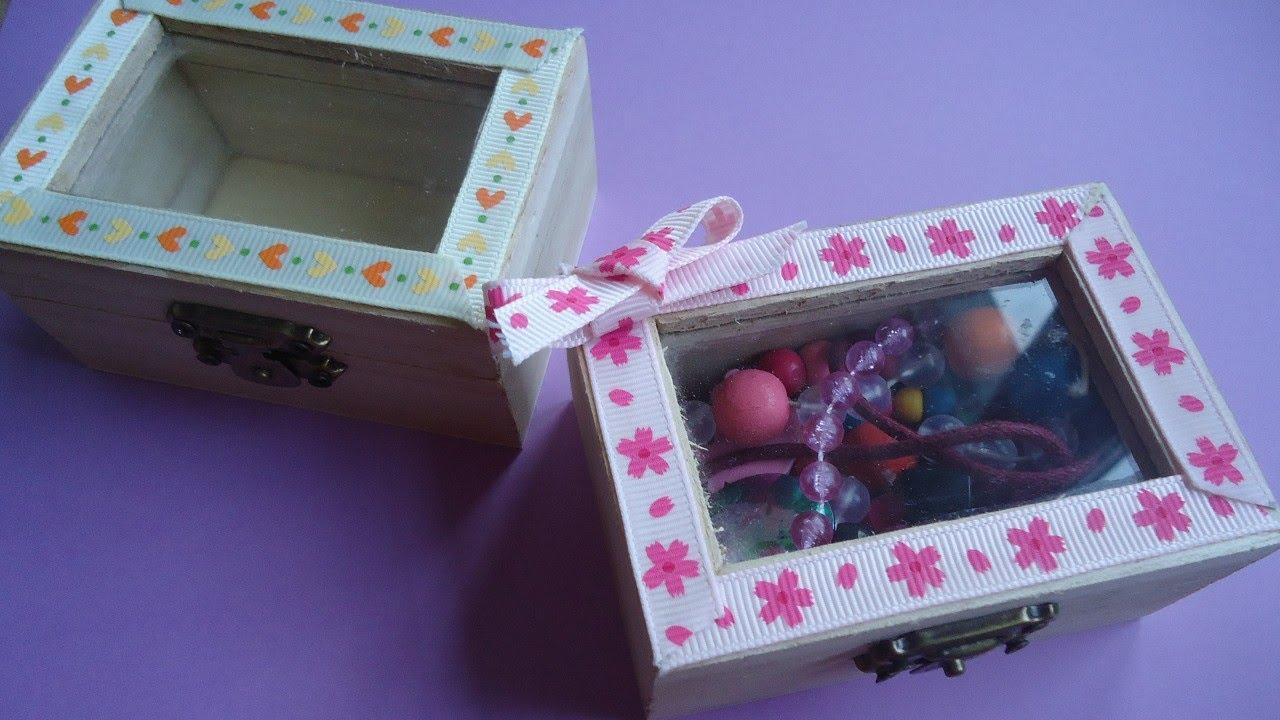 Decoraci n de una caja de madera trabajo manual para - Manualidades decorar cajas de madera ...
