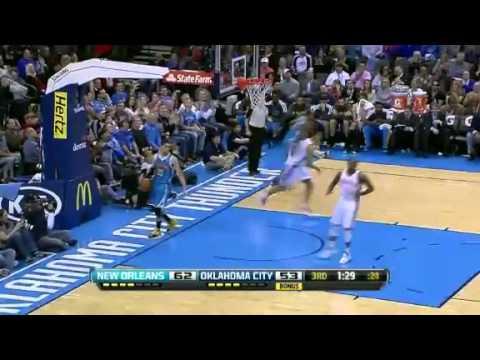 NBA December 12 2012: New Orleans Hornets vs Oklahoma City Thunder Highlights