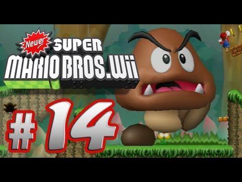 Newer Super Mario Bros. Wii - 100% Co-op Walkthrough Part 14