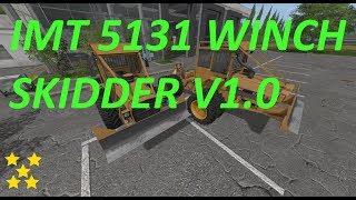 """[""""IMT 5131 WINCH SKIDDER"""", """"Mod Vorstellung Farming Simulator Ls17:IMT 5131 WINCH SKIDDER V1.0""""]"""