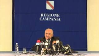 Conferenza stampa De Luca 11 novembre 2015