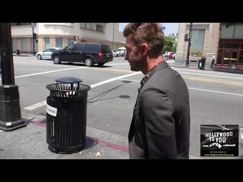 Scott Speedman talks about Keri Russell's  The Americans outside Katsuya Restaurant in Hollywood