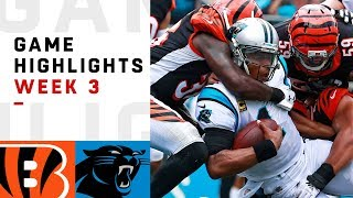 Bengals vs. Panthers Week 3 Highlights | NFL 2018