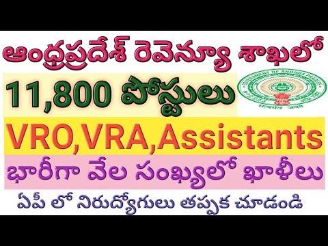 AP 11,800 VRO,VRA,Assistant Posts In Revenue Department | AP Government Jobs | Job Search