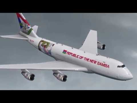 New gambia viictory plane