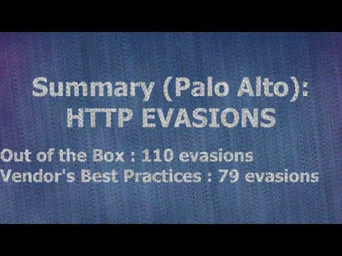 Palo Alto Networks Bypass- HTTP EVADER