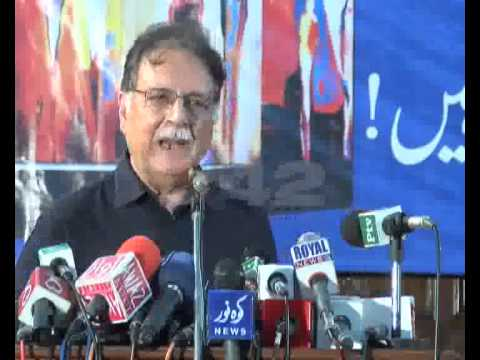 Federal Minister Information & Broadcasting Pervaiz Rasheed At Quaid e Azam Library Pkg By Ali Akber
