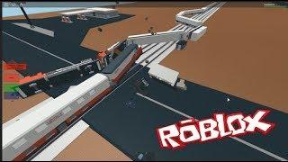 Train Hitting Trucks In Roblox!