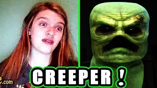 Realistic Minecraft Creeper Scare Prank (Omegle)