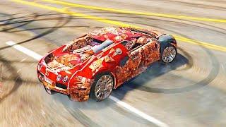 Реальная Жизнь в GTA 5 - ДРИФТ НА РЖАВОЙ BUGATTI VEYRON. ПРИГНАЛИ УТОПЛЕННЫЙ Lamborghini Huracan.