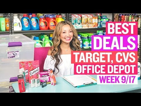 ★ 14 FREEBIES & Coupon Deals Target, CVS, Office Depot (Week 9/17-9/23) + $0.01 Batteries