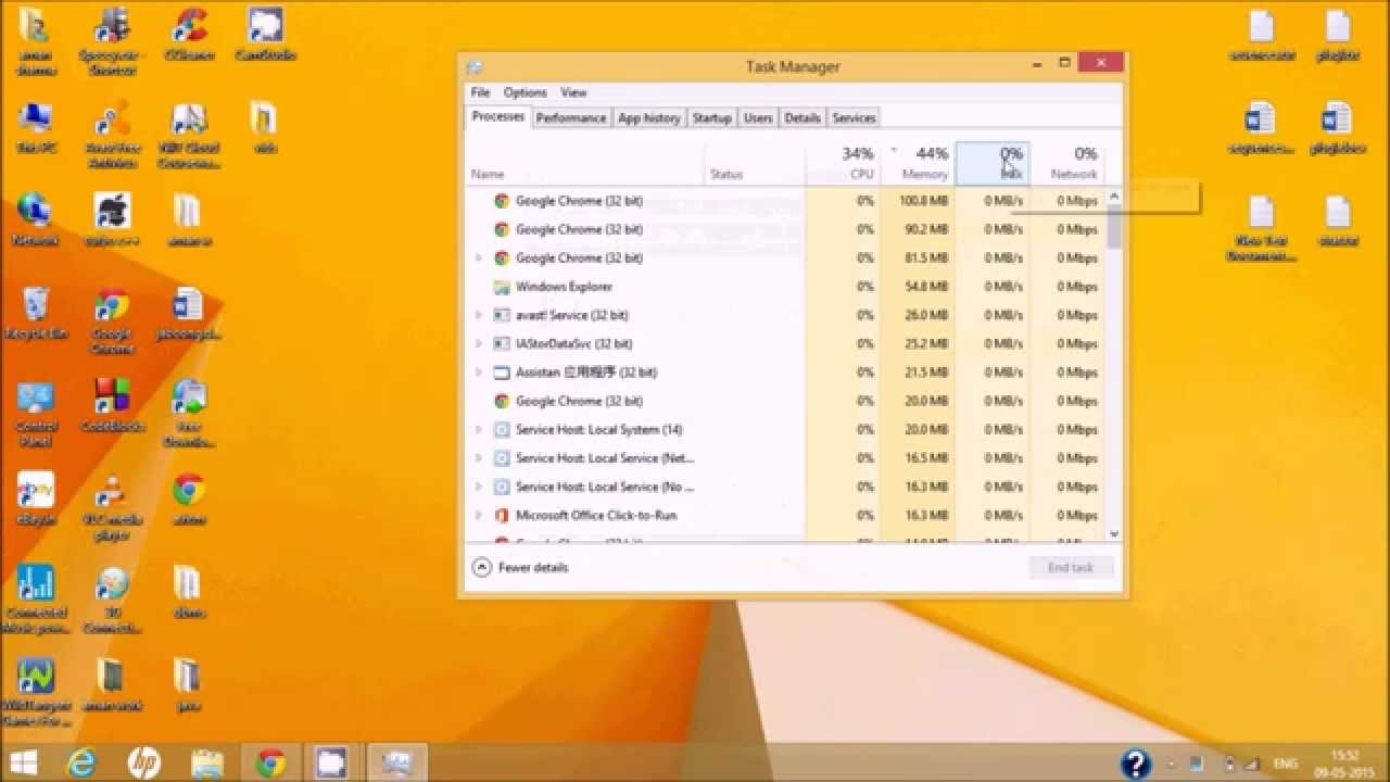 fix 100% disk usage in windows 8 and 8 1