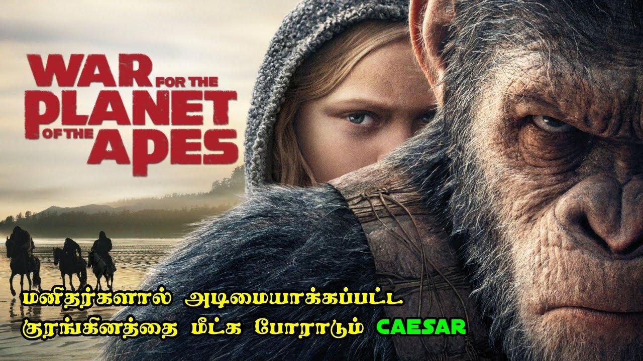 அடிமையாக்கப்பட்ட குரங்கினத்தை மீட்க போராடும் Caesar | Film Feathers | Movie Explained in Tamil