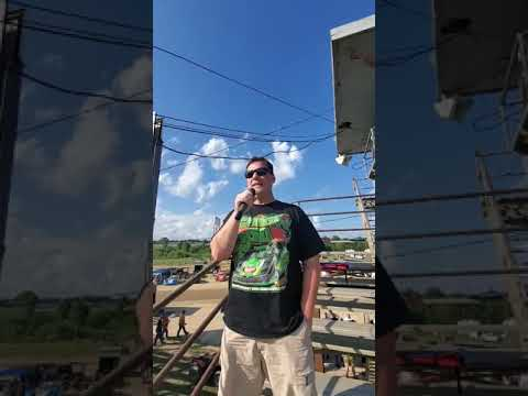 Chuck the announcer from Portsmouth raceway park gives beast motorsports a shout out