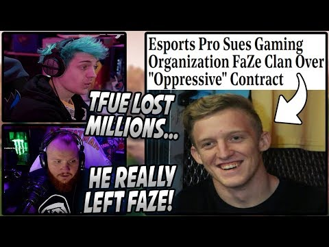 Ninja & Tim SHOCKED After Tfue SUES FaZe For Taking Over 80% Of His EARNINGS! (Left FaZe)