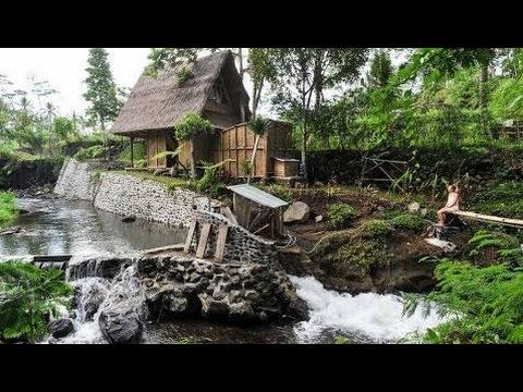Tiny Bamboo Cabin in Bali, Beautiful Small Bamboo House Design