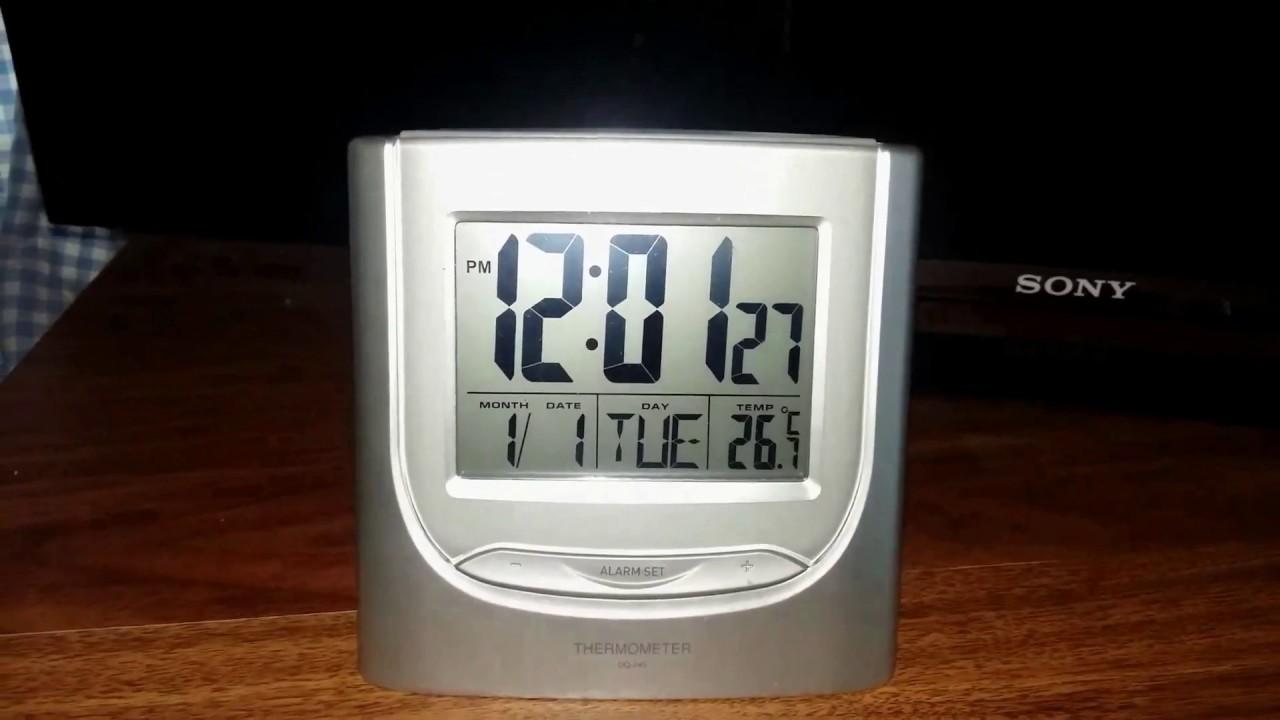 9c7f7e2caef Casio DQ - 745 Alarm clock  Timepiece configuration