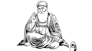Drawing Guru Nanak Dev Ji