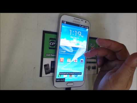 How to get Samsung Galaxy Note 2 IN & OUT of safe mode