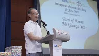 KidsExcel Appreciation Day - Speech by Mr George Yeo