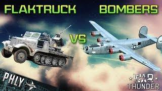 War Thunder Tanks Flak Vs HUGE Bomber FORMATION - War Thunder Ground Forces Gameplay