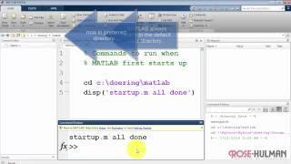 ece180 matlab: Erstellen Sie ein startup.m-Skript