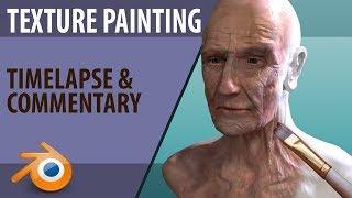 texture painting |  template brush's |  timelapse & commentary | Blender