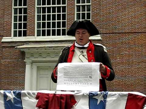 Public reading of the Declaration of Independence, Independence Hall