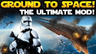 GROUND TO SPACE IS FINALLY HERE! Star Wars Battlefront 3 Legacy Mod Beta Gameplay (SWBF2 Mod)
