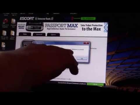 Escort Detector Tools 1.11.29 - Updating The  Passport Max 2 Radar Detector