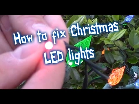 easy ways how to fix led christmas lights -