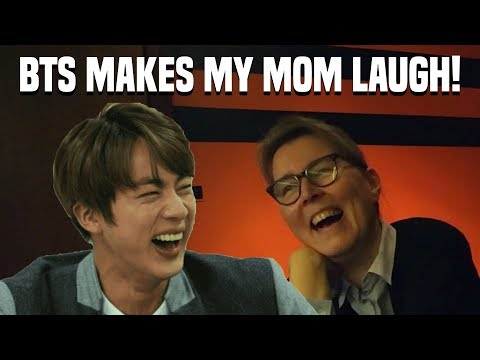 MY MOM REACTS TO BTS!!! ( FAKE LOVE + BLOOD SWEAT AND TEARS + BTS BEING FUNNY )