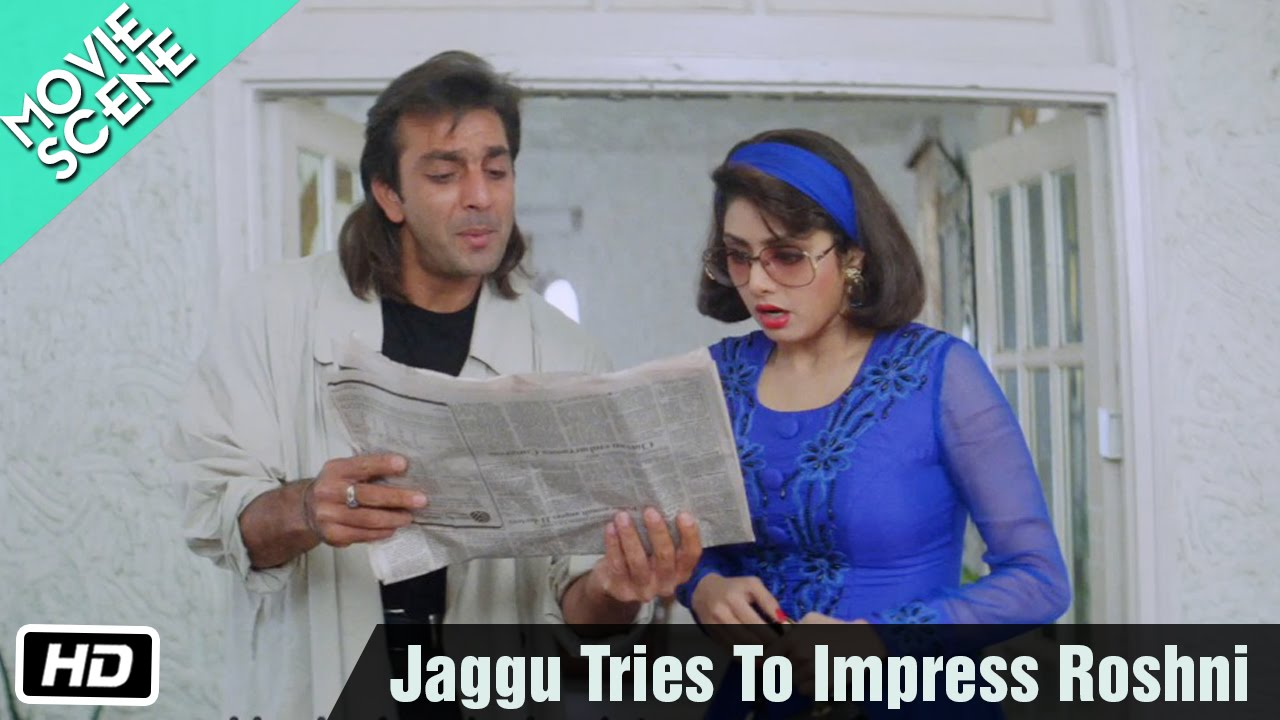 Download Jaggu Tries To Impress Roshni - Movie Scene - Gumrah - Sanjay Dutt, Sridevi