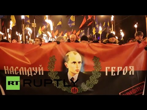 Ukraine: Right Sector ultra-nationalists march in honour of