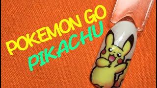 Маникюр в стиле Pokemon GO! Рисуем Пикачу(Pikachu) на ногтях. Pokemon Go and nails design.
