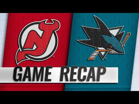 Meier, Pavelski lead Sharks past Devils, 5-2