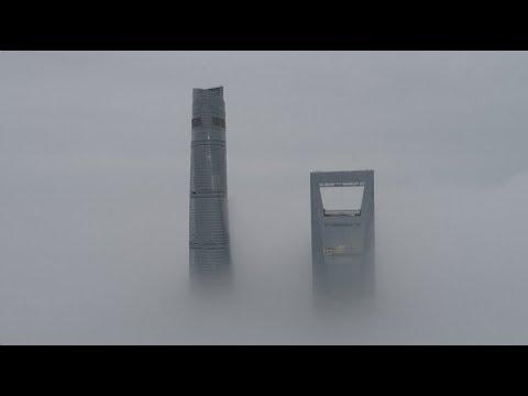Heavy Fog Affects Traffic in Shanghai