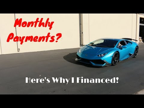 Here's The Monthly Payment For My Lamborghini and Why I Financed