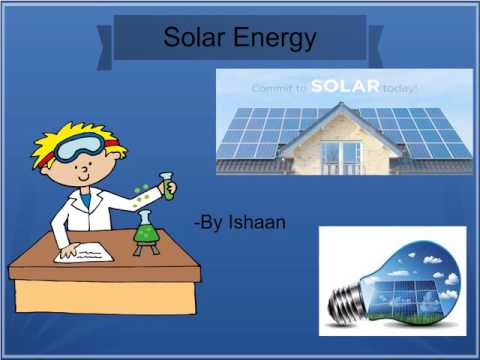 Solar Energy for Kids School Project on Sustainability /Renewable Energy for Kids /kids science