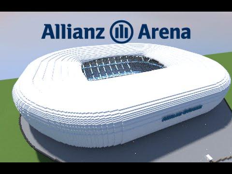Minecraft - MEGABUILD - Allianz Arena (Bayern München) football Stadium [Official]