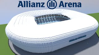 Minecraft - MEGABUILD - Allianz Arena (Bayern München) soccer Stadium [Official]