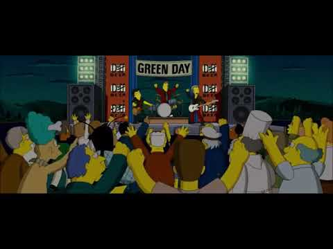 The Simpsons Movie Green Day Scene 2007 Youtube