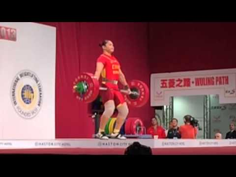 Yue Kang 1st snatch WWC