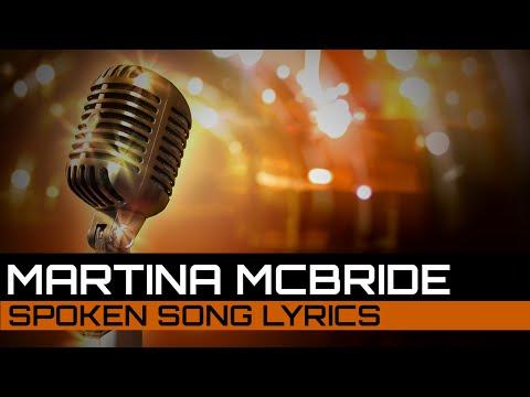 Spoken Song Lyrics: Martina McBride - In My Daughter's Eyes