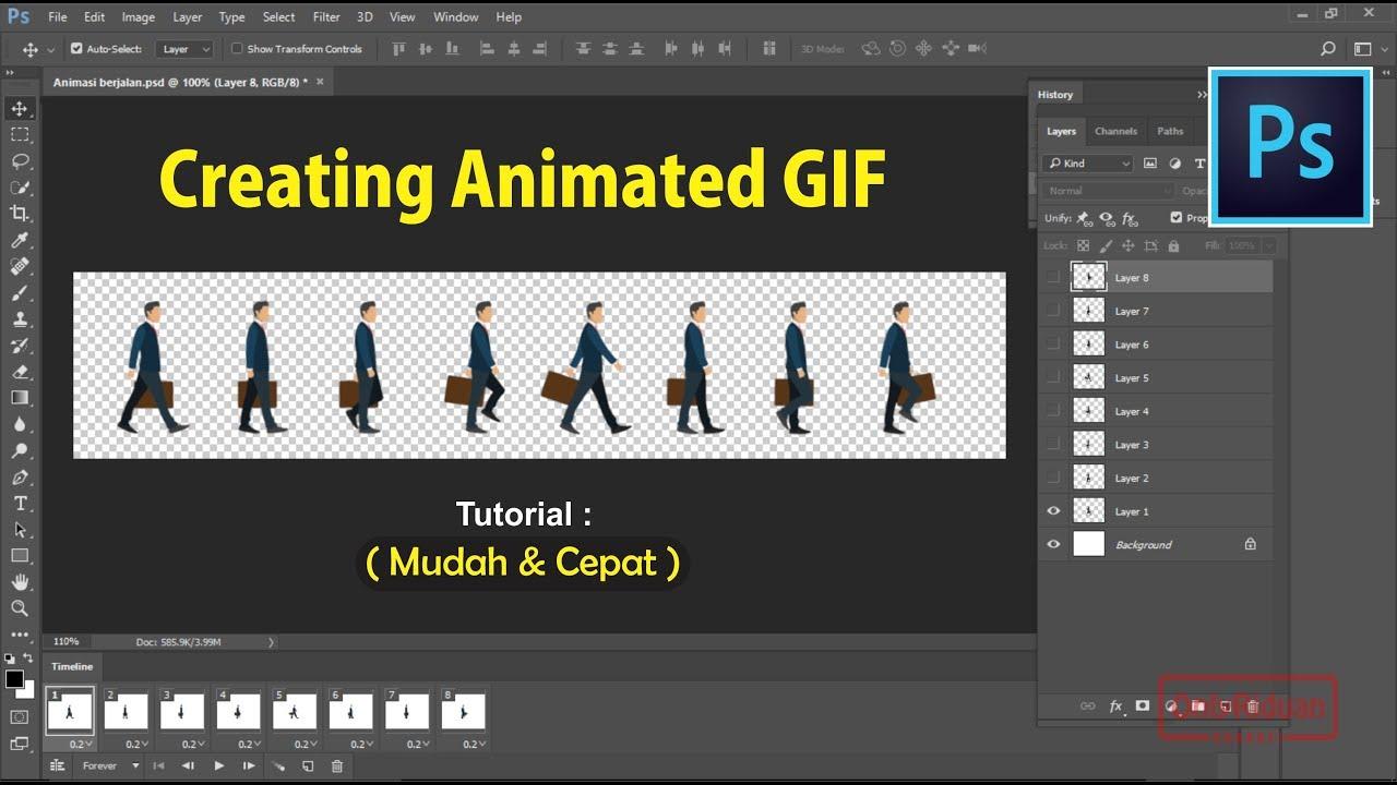 Cara Mudah Membuat Animasi Gif Dengan Photoshop Cs6 Youtube